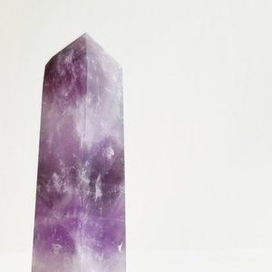 Accents - Rose Quartz and Amethyst Crystal Prism
